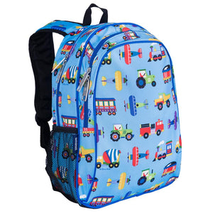 "Wildkin Olive Kids Trains Planes and Trucks 15"" Backpack"