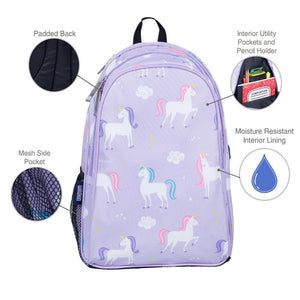 "Wildkin Olive Kids Unicorn 15"" Backpack details"