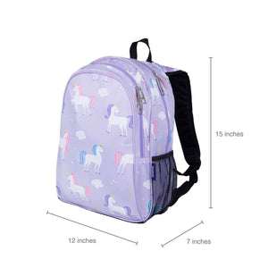 "Wildkin Olive Kids Unicorn 15"" Backpack sizing"