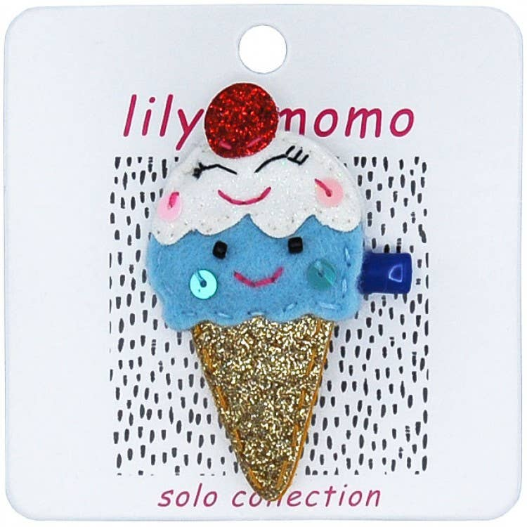 Lily & Momo Solo Collection | Ice Cream Cone Hair Clip