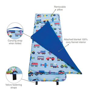 Wildkin Olive Kids Trains Planes and Trucks Original Nap Mat details II