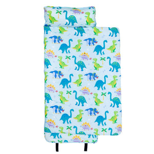 Wildkin Olive Kids Dinosaur Land Original Nap Mat outside