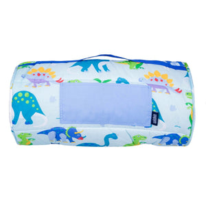 Wildkin Olive Kids Dinosaur Land Original Nap Mat rolled up