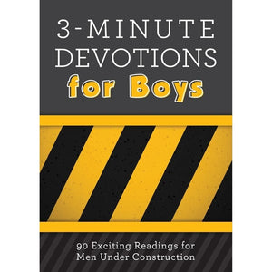 '3-Minute Devotionals For Boys' Book | Glenn Hascall