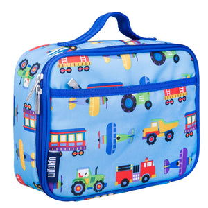 Wildkin Olive Kids Trains Planes and Trucks Lunch Box