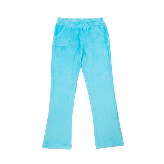 Candy Pink Girls Fleece Plush Pajama Lounge Pant in Aqua