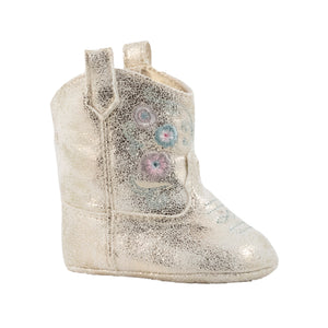 Baby Deer | Miller Cowboy Boot | Infant Soft Sole Champagne