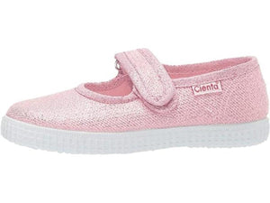 Cienta | Mary Jane Sneaker 56083 | Bubblegum Pink Sparkle