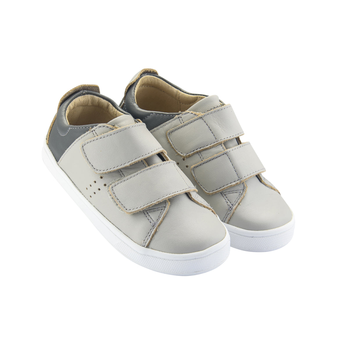 Old Soles | Toko (Toddler/Youth) Leather Shoes Gris / Grey