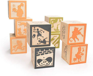 Uncle Goose | Sentiments | Nursery Rhyme Favorites Stacking Blocks