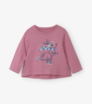 Hatley Kids Baby and Toddler Girls Cozy Bunny Long Sleeve Tee