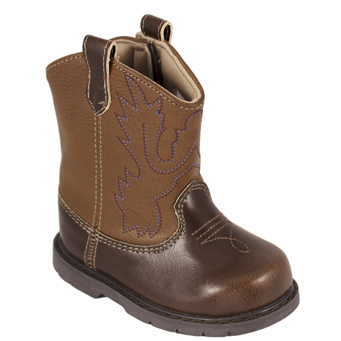 Baby Deer | Miller Cowboy Boot | Hard Sole Brown