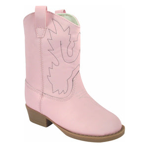 Baby Deer | Miller Cowboy Boot | Hard Sole Pink