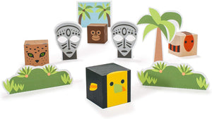 Uncle Goose | Cubelings Jungle Blocks for imaginary play
