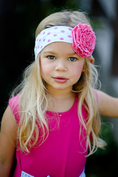 Giggle Moon Spring Summer 2018 Children of Love Knit Headband on model