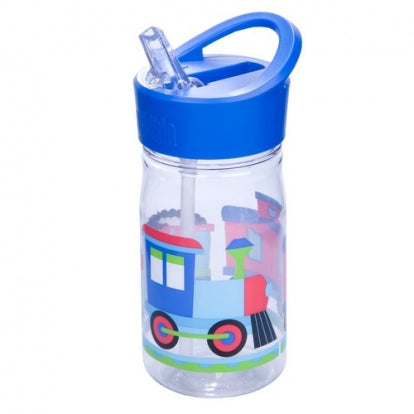 Wildkin Olive Kids Trains Planes and Trucks Water Bottle