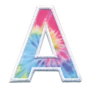 iScream | A Initial Tie Dye Sticker Patch