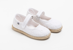Chus | Addison Mary Jane Espadrille | White