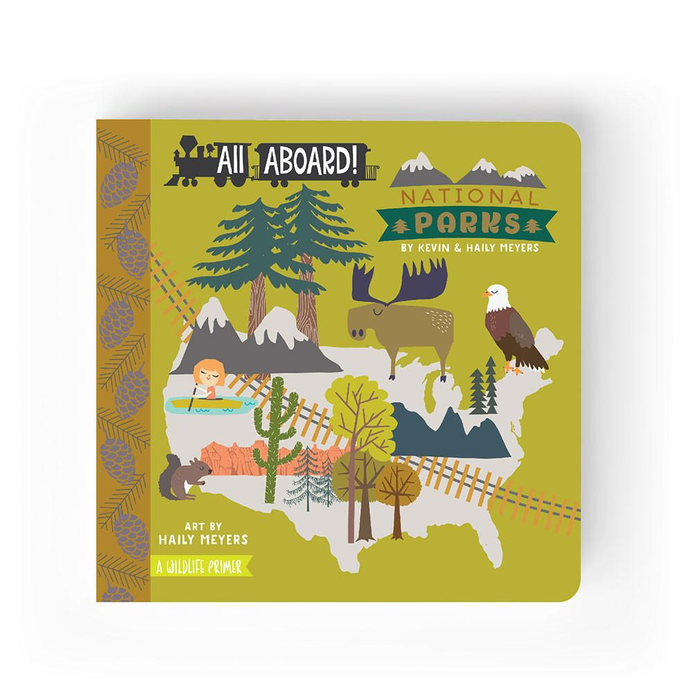 All Aboard Series :  National Parks. A Wildlife Primer Book picture board book for baby's and children. From Lucy Darling