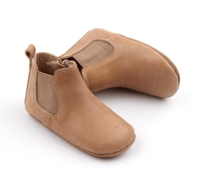 Consciously Baby Leather Boot in Sedona Brown | Baby Soft Sole