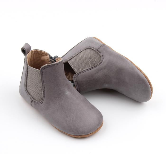 Consciously Baby Leather Boot in Tahoe Blue | Baby Soft Sole