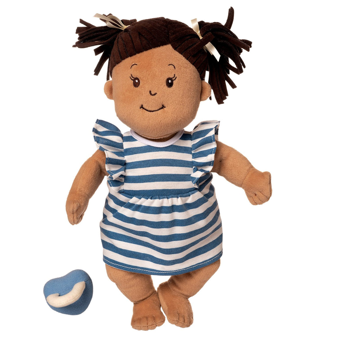 Manhattan Toy | Baby Stella Beige Soft Plush Baby Doll with Brown Hair