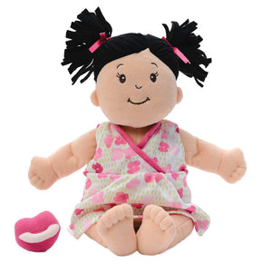 Manhattan Toy | Baby Stella Brunette Soft Plush Baby Doll