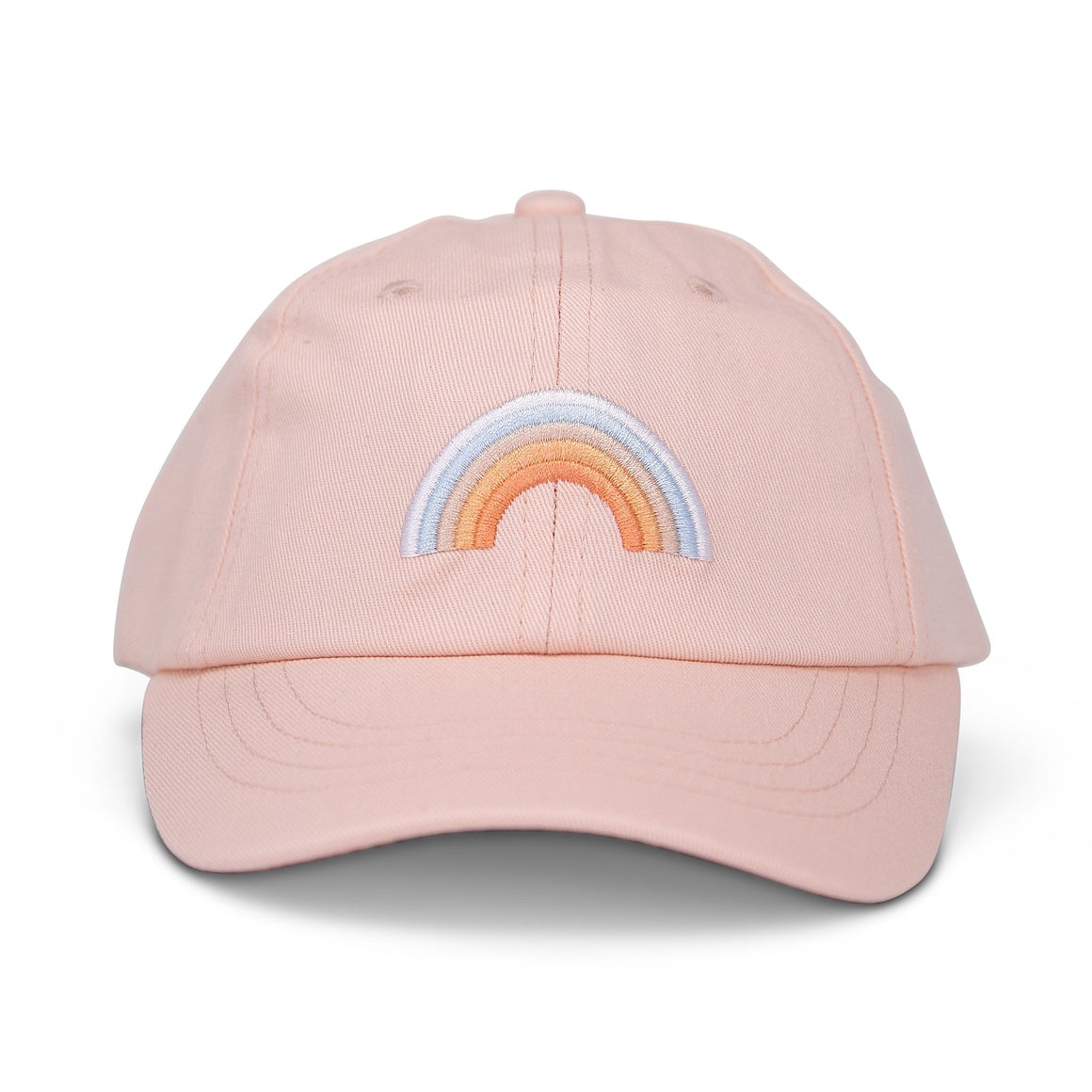cash and co blushing rainbow girls baseball cap front