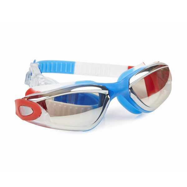 Bling2O | Girls Camp Color War Swim Goggles | USA Red White and Blue