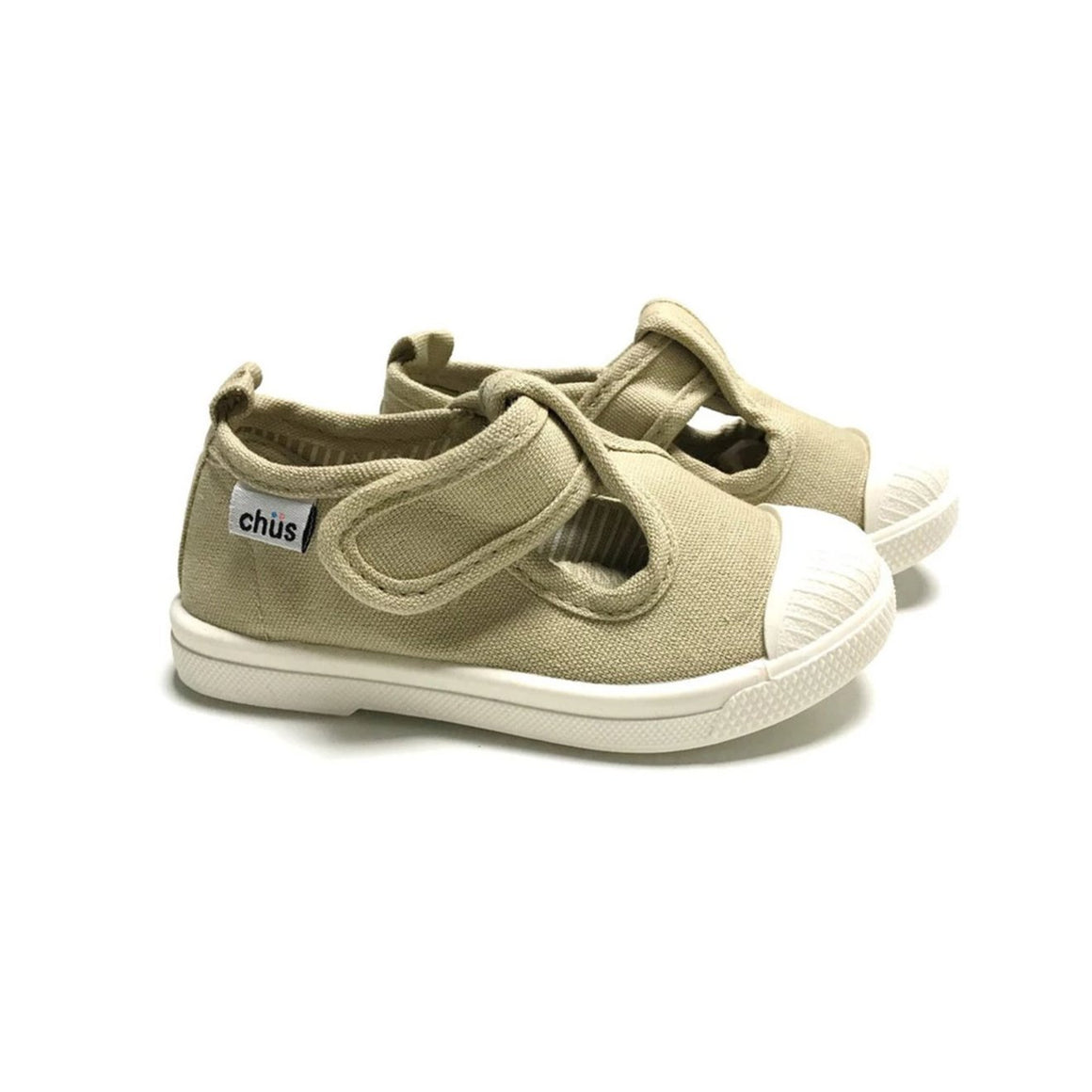 Chus Shoes | Chus Chris Canvas Velcro Sneaker in Khaki
