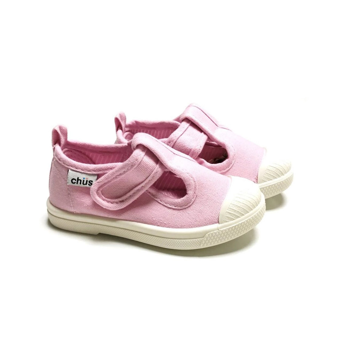 Chus Chris Canvas Velcro Sneaker in Light Pink
