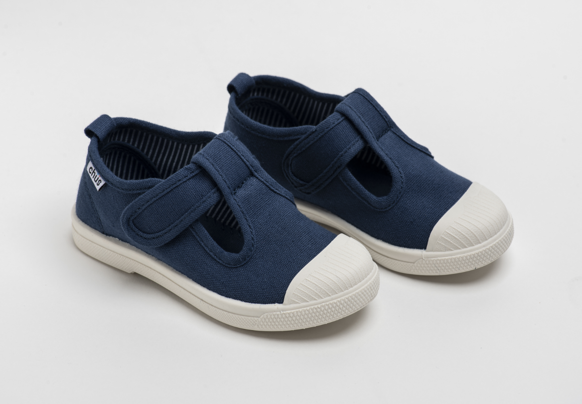 Chus | Chris Canvas Velcro Sneaker in Navy