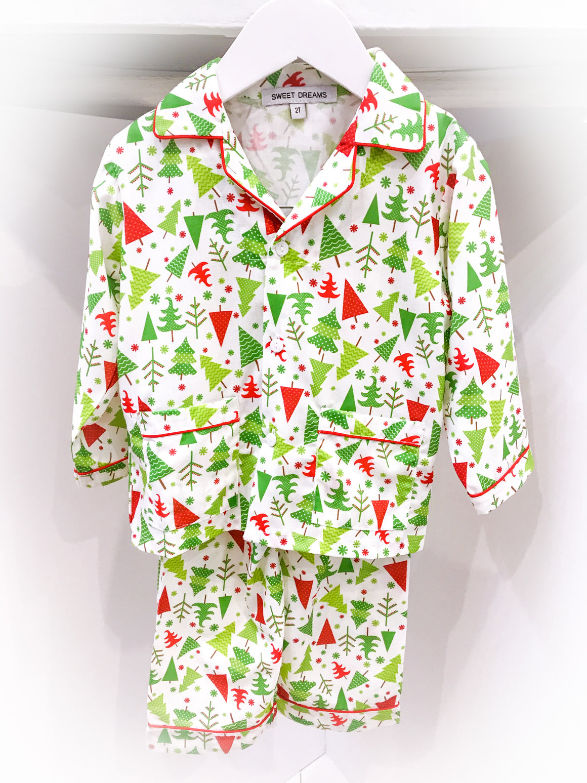 Sweet Dreams | Holiday | Christmas Tree Print Pajama Set (NEW)