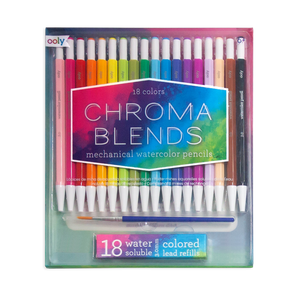 ooly | Chroma Blends Mechanical Watercolor Pencils | Set of 18