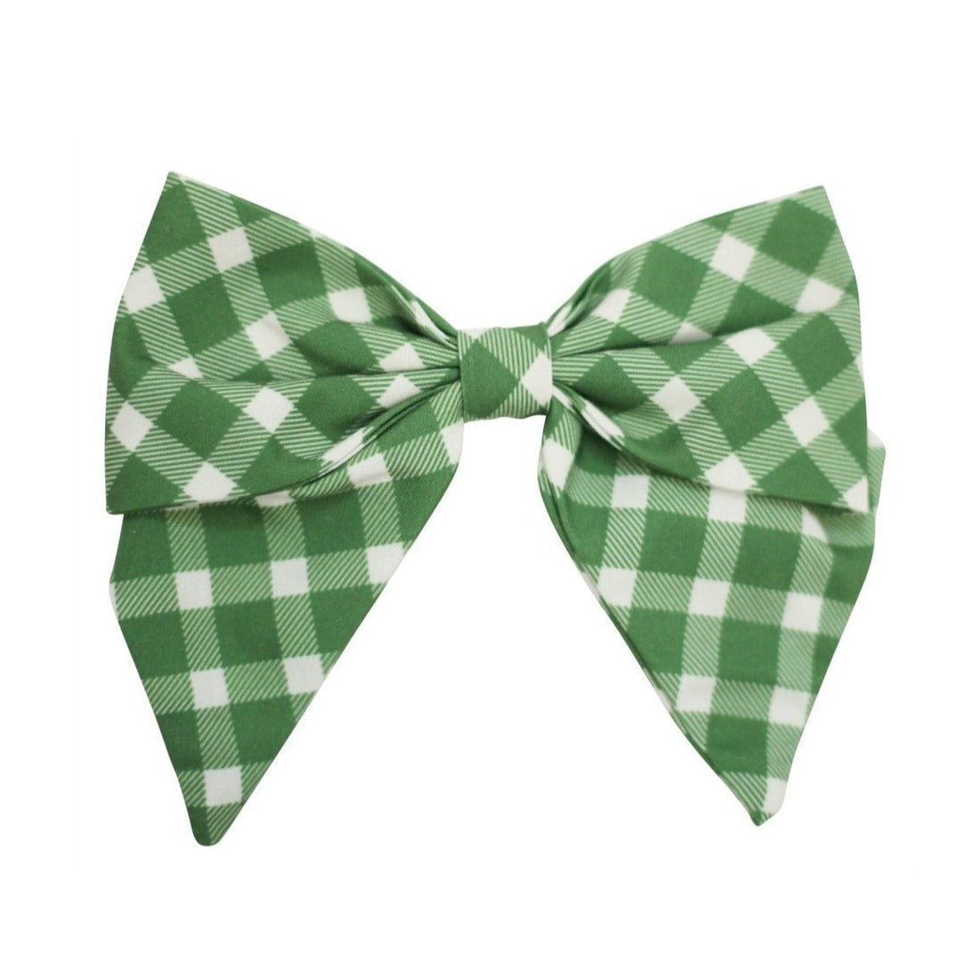 Be Girl Clothing | Classic Bow | Evergreen Plaid