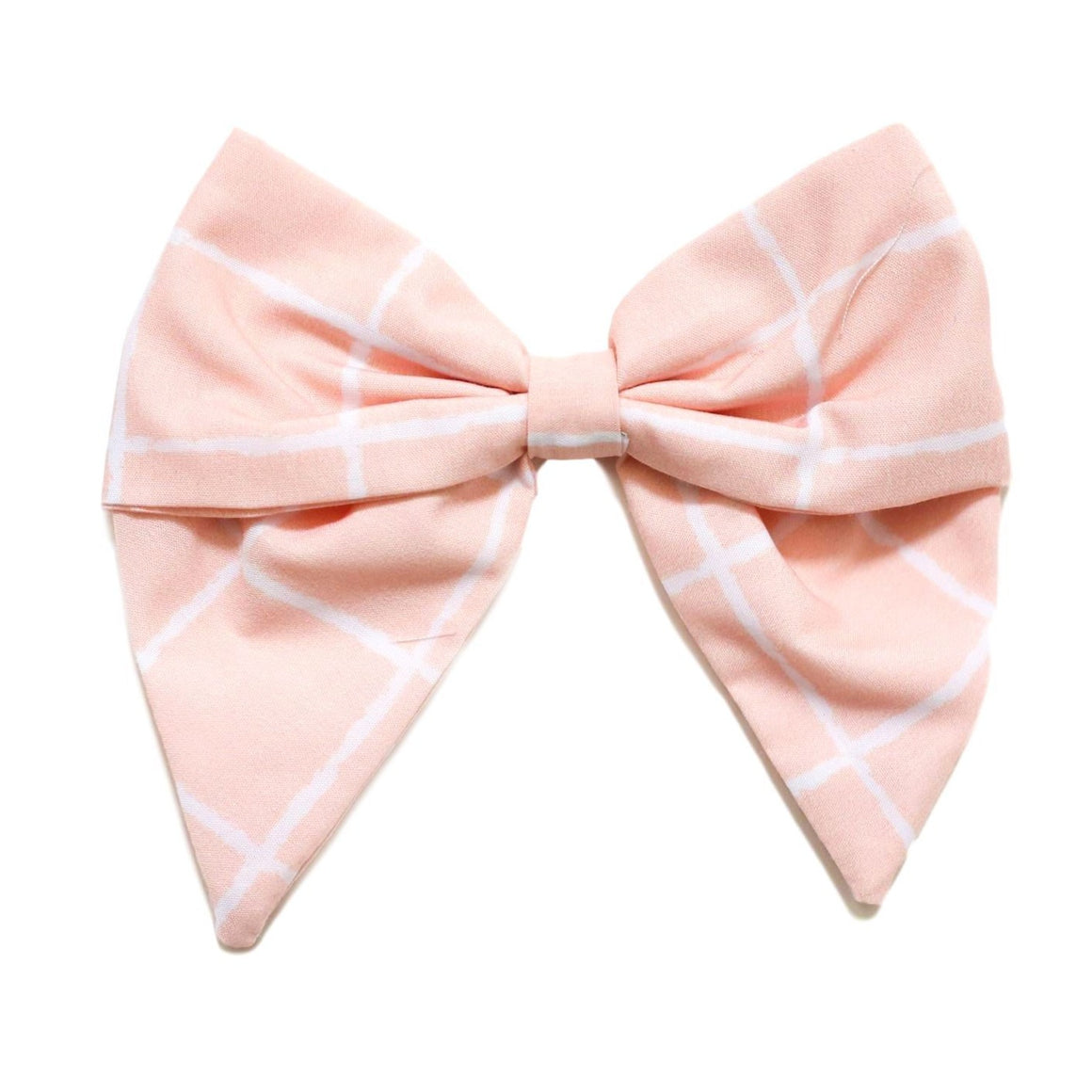 Be Girl Clothing | Classic Bow on Clip | Pink Windowpane