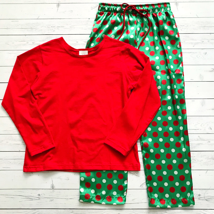 Juju & Jack Sleepware Christmas Dot Pajama Pants