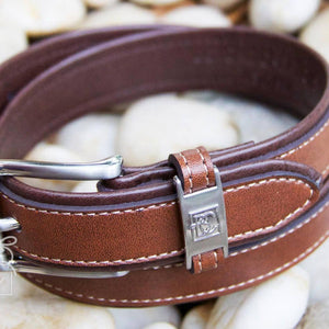 Boys Double Leather Belt | Brown / Light Brown