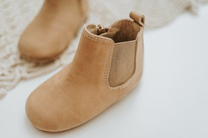 Consciously Baby | Leather Boot in Sedona Brown | Baby Soft Sole