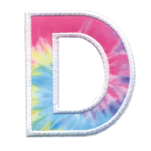 iScream | D Initial Tie Dye Sticker Patch