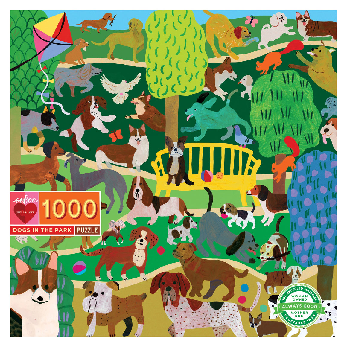 eeboo | 1000 Piece Puzzle | Dogs in the Park