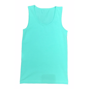 Candy Pink Girls Pajama Lounge Tank Top in Mint