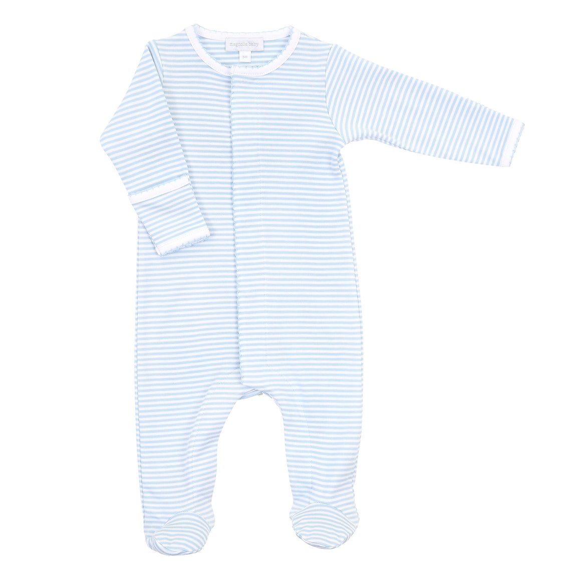 Magnolia Baby | Essentials Blue Stripes Footie
