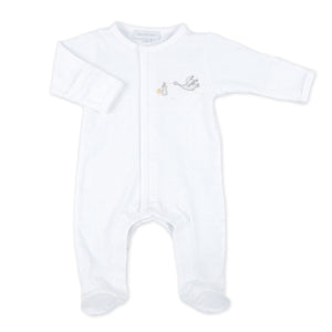 Magnolia Baby | Essentials Worth the Wait Embroidered Footie | White