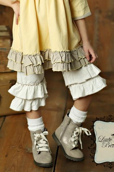 Little Prim by Mustard Pie Fall Winter 2018 Addy Gaucho in Vanilla