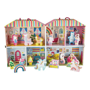 Floss & Rock | Play Box with Wooden Pieces | Rainbow Fairy
