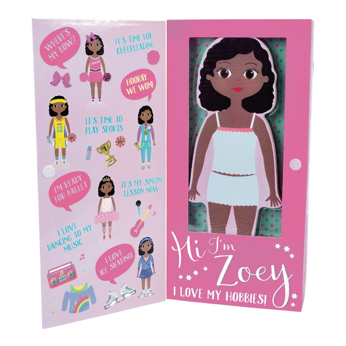 Floss & Rock | Wooden Magnetic Dress Up Doll | Zoey
