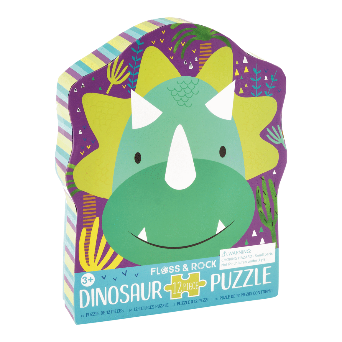 Floss & Rock | 12 Piece Jigsaw Puzzle | Dino