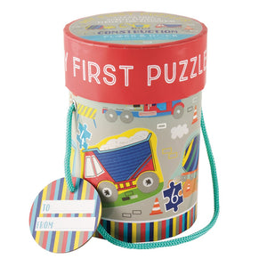 Floss and Rock 'My Firsts' Construction Themed Puzzles. 4 in 1 box. 3, 4, 6 and 8 pieces. Construction themed.