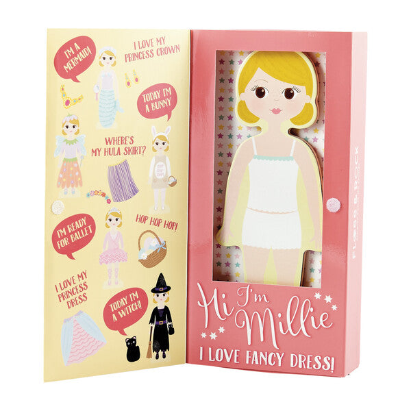 Floss & Rock | Wooden Magnetic Dress Up Doll | Millie